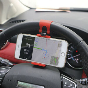 AUTO-DECORATIVE-ACCESSORIES-Car-Steering-Wheel-Bike-Handlebar-Phone-Holder-Clip