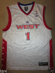 Details about Tracy McGrady #1 NBA ALL Star Game Houston Rockets Adidas Jersey LG L