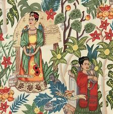 1m Frida's Garden Tea Fabric - Alexander Henry. Frida Kahlo Mexican Art