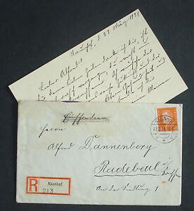 Dr 1931 Altes Einschreiben Reco Brief M 45 Pf Ebert Mn 419