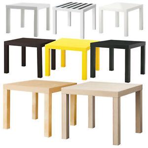 Ikea Lack Beistelltisch 55 cm Weiß Schwarz Rot Grün Gelb