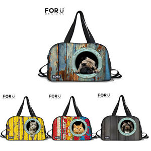 320053eb09d7 Cute Animal Pug Travel Luggage Duffle Gym Bags Suitcase Tote Sport ...