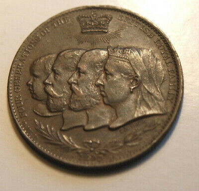 1837 - 1897 Queen Victoria Bronze Medal Young & Old Head
