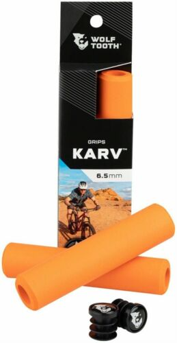 Details about  /Wolf Tooth Karv Bicycle Grips//Orange
