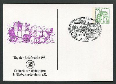 Gehorsam Brd Privat-ga 1981 Tag Der Marke Pferde-kutsche Pferd Horse Bochum D6160 Rheuma Lindern