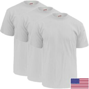 Soffe-Military-White-T-Shirt-100-Percent-Cotton-Poly-3-Pack