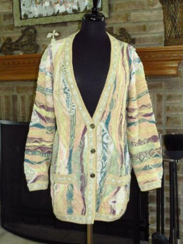 COOGI CLASSIC Linen Cotton Knit Cardigan Sweater