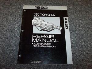 1992 toyota truck a43d transmission workshop shop service repair rh ebay com 2007 Toyota Yaris Diagrams 2007 Toyota Yaris Diagrams