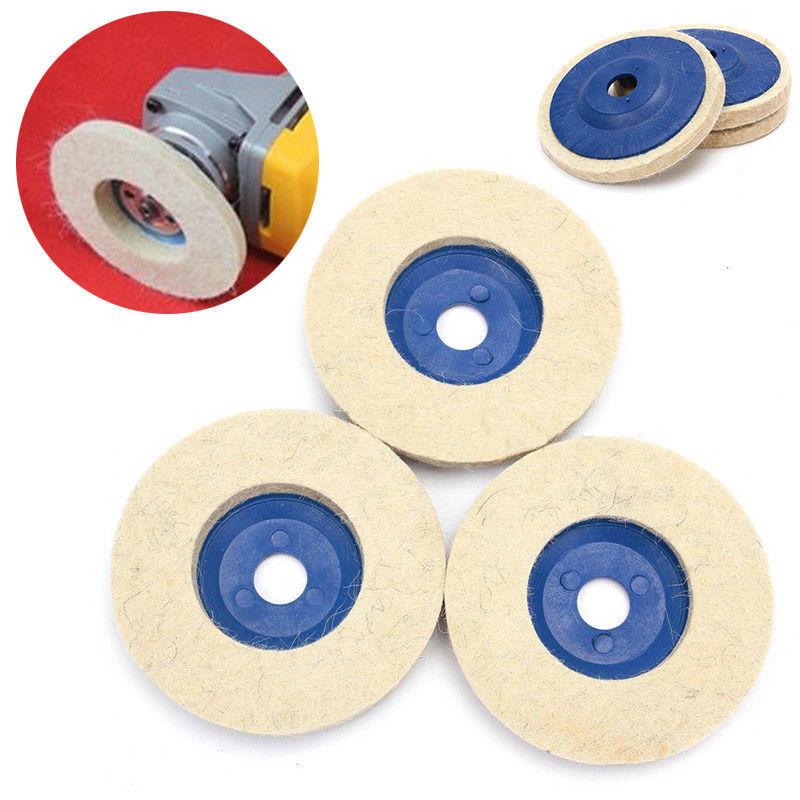 Pulir disks milímetros fieltro 3x bucles azul + beige pulimento herramienta
