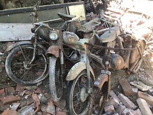 7 Stück Alte Mopeds Scheunenfund Zündapp Rixeund Ein Antiker