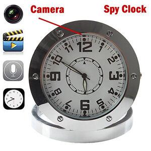 Mini Table Clock Glitzy Spy Camera DVR Video Recorder Hidden Cam Camcorder