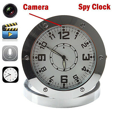 Mini Table Clock Glitzy Spy Camera DVR Video Recorder Hidden Cam Camcorder
