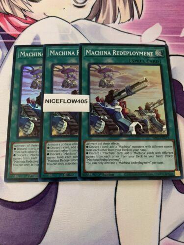 YUGIOH Machina Redeployment Super 1st x3 Mint MECHANIZED MADNESS SR10-EN023