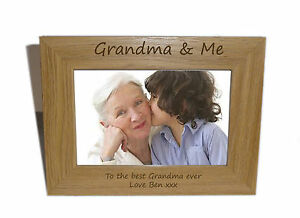 Details About Grandma Me Wooden Photo Frame 6 X 4 Personalise This Frame Free Engraving
