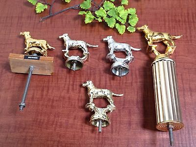 Five 1950s METAL Trophy Figurine Statue Toppers - Dodge Trophy Made in Italy