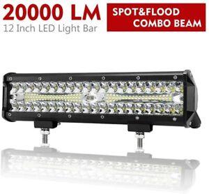 12 Inch LED Light Bar Spot Flood Combo Beam Work Light Offroad Driving Lights