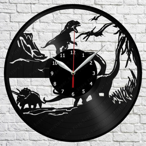 Jurassic Park Vinyl Record Wall Clock Home Fan Art Decor 12/'/' 30 cm 7124