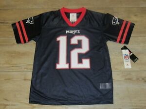 Details about New England Patriots Tom Brady #12 Football Jersey size Youth Medium