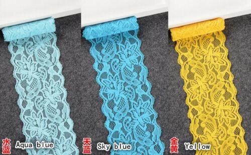 1 yard Flower Stretch Lace Trim Ribbon Sewing Dress Skirt DIY Handicraft FP108