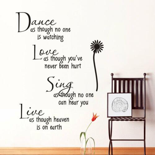Dance como si nadie está viendo Amor Pared Arte Calcomanía Pegatinas Arte Vinilo V627