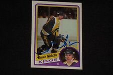 BERNIE NICHOLLS 1984-85 TOPPS SIGNED AUTOGRAPHED CARD #67 LOS ANGELES KINGS