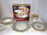 4 Pc Bobby Flay Dinnerware Set - Capri Collection -