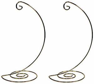 Image Is Loading Fancy Gold Metal Ornament Display Hanger Stands 10