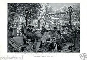 Kurkonzert-Bad-Pistyan-Kunstdruck-von-1928-Piest-any-Kur-Hotel-Royal-Frost-Kur
