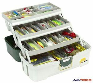 Tackle Box 3 Tray Fishing Tool Storage Organizer Lures Bait Tools Plano New
