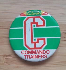 Clarks Shoes - Commando Trainers - Button Badge 1980's