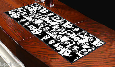 BLACK & WHITE ELVIS PATTERN BAR RUNNER IDEAL FOR ANY OCCASION PUBS CLUBS SHOPS