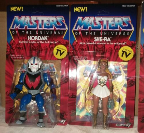 4 Brand New Super7 MOTU VINTAGE wave 1 set He-Man Skeletor Hordak She-Ra