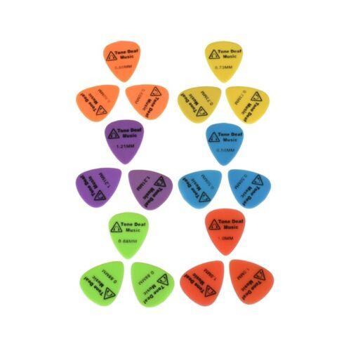 18 X Weich Nylon Gitarre Plektren Pick Bass Akustische Elektrisch