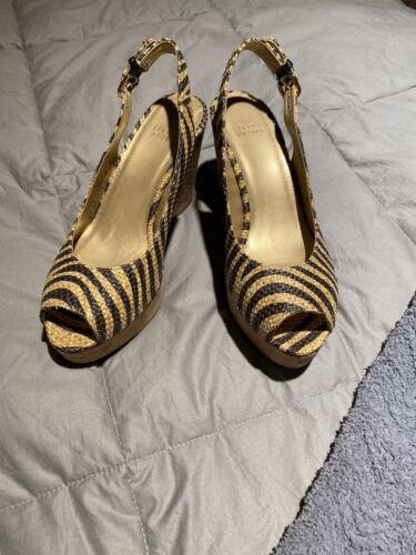Stuart Weitzman Wedge Sandals - Zebra - Size 9