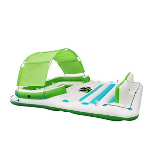 COMFY FLOATS 13 Foot Misting Party Platform Inflatable Summertime Float, Green