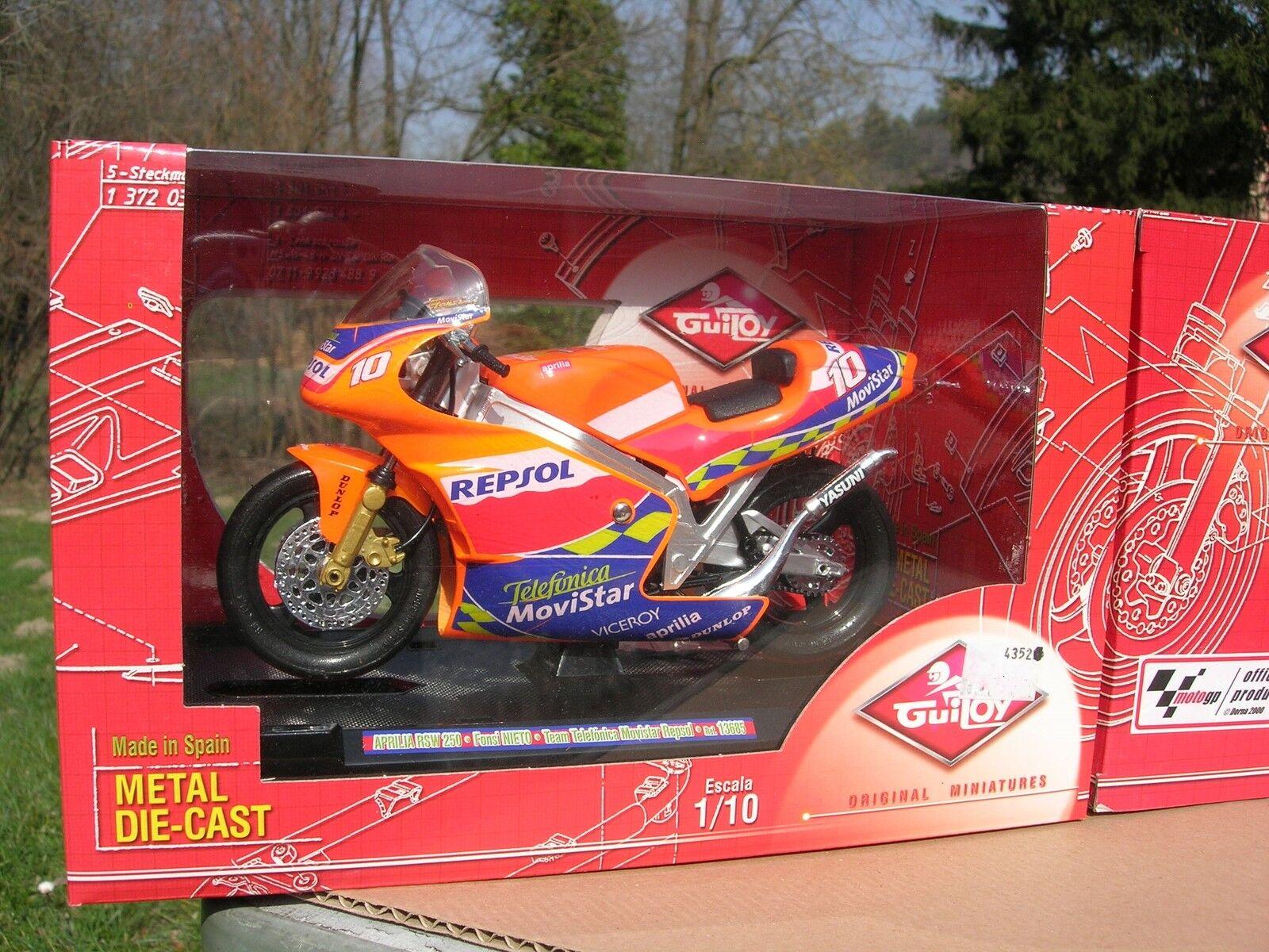 GUILOY 1 10 MOTO MOTORCYCLE APRILIA RSW 250 Fonsi NIETO TEAM REPSOL MoviIStar