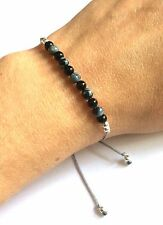 Just Gemstones Onyx & Snowflake Obsidian Yoga Balance Reki Bracelet
