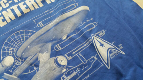 Culte Movie picard tv Ncc-1701 m2 t-shirt bleu star spock Fun trek Kirk Fan