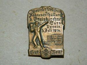 Turnerkreuz Sport Abzeichen, BEZIRKSTURNFEST TRAISKIRCHEN 1914 Gut Heil