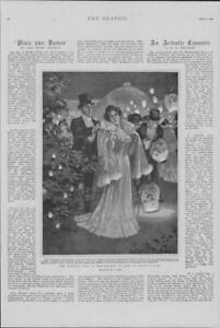 1901-Antique-Print-LONDON-Regents-Park-Evening-Fete-Society-Arts-98