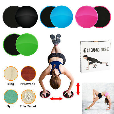 Gym Abs Exercise Gliding Discs Core Sliders Dual Sided Fitness Home Men//Women