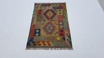 122 X 78cm Afghanisch Kelim Teppich Orientalisch Wolle Kilim Rug Carpet #7338