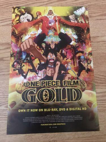 Anime Expo AX 19 2019 One Piece Film Gold Viz Media Poster RARE