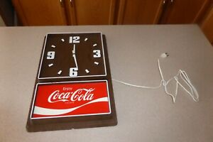 Vintage-Enjoy-Coca-Cola-Electric-Wall-Clock-by-Impact-International