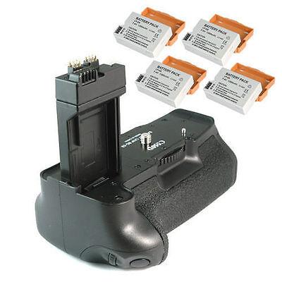 Batteriegriff +4 Akkus f Canon EOS 550D 600D -wie BG-E8