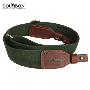 Tourbon-Gun-Sling-Rifle-Shotgun-Strap-Quick-Release-Belt-2-Point-Webbing-Leather