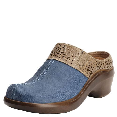 New Womens Ariat 10015237 Santa Cruz Mule Ocean Leather Clog