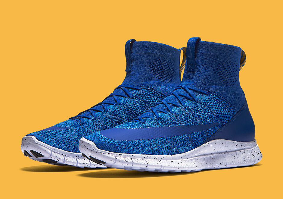 NIKE FREE FLYKNIT MERCURIAL GAME ROYAL BLUE-WHT BLUE sz.11US sz.11US sz.11US (805554-400) DS 107e92