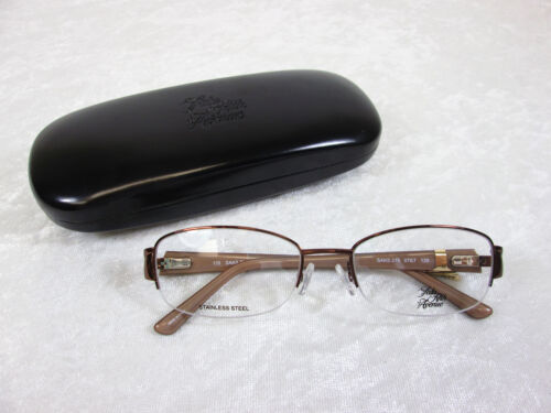 Saks Fifth Avenue Women's Eyeglass Frames SAKS 275 0TE7 Brown Sand Rxable