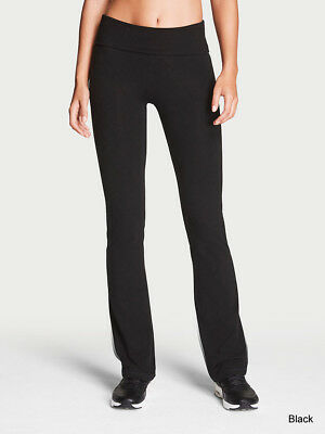 S-XL Women/'s Black Long Stretch Pants Pull On Mid Rise Bootcut Flare Lounge Yoga
